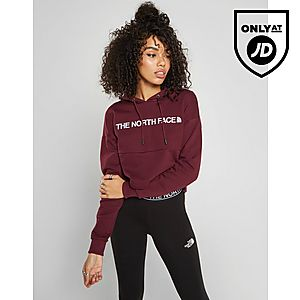 cdaf418a11f7b The North Face Embroidered Logo Crop Hoodie ...