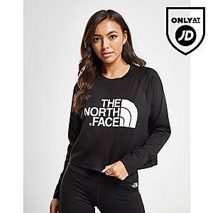 2d976bb409150 ... The North Face Mesh Crop Long Sleeve T-Shirt