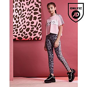 19cff6d22b1a ... adidas Originals Girls  Leopard All Over Print Leggings Junior