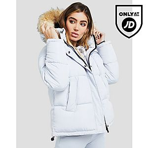 SikSilk Fur Hood Padded Jacket ... ca00ff008