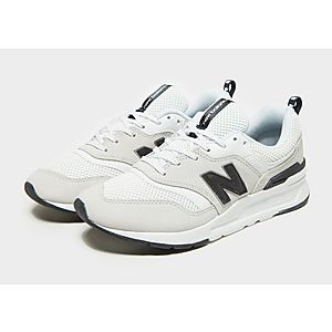 new balance 997 black white gold shoes on sale