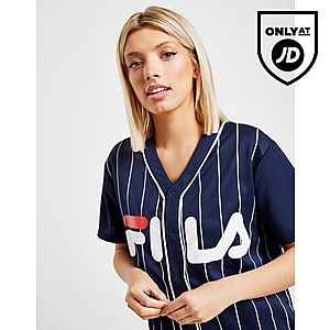 fce50bae69d9 Fila Stripe Baseball T-Shirt ...