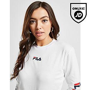 a73f19c483228f ... Fila Repeat Logo Long Sleeve Crop T-Shirt