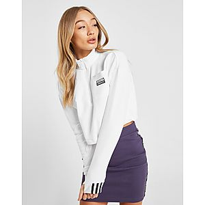 the best attitude 8a4e6 7ba5b adidas Originals R.Y.V. Crop 1 2 Zip Sweatshirt ...