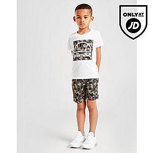86c43624931ca0 ... Ellesse Vios T-Shirt Shorts Set Children