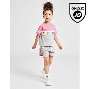 cba4dedf210b47 Ellesse Girls  Pratolina T-Shirt Shorts Set Children ...