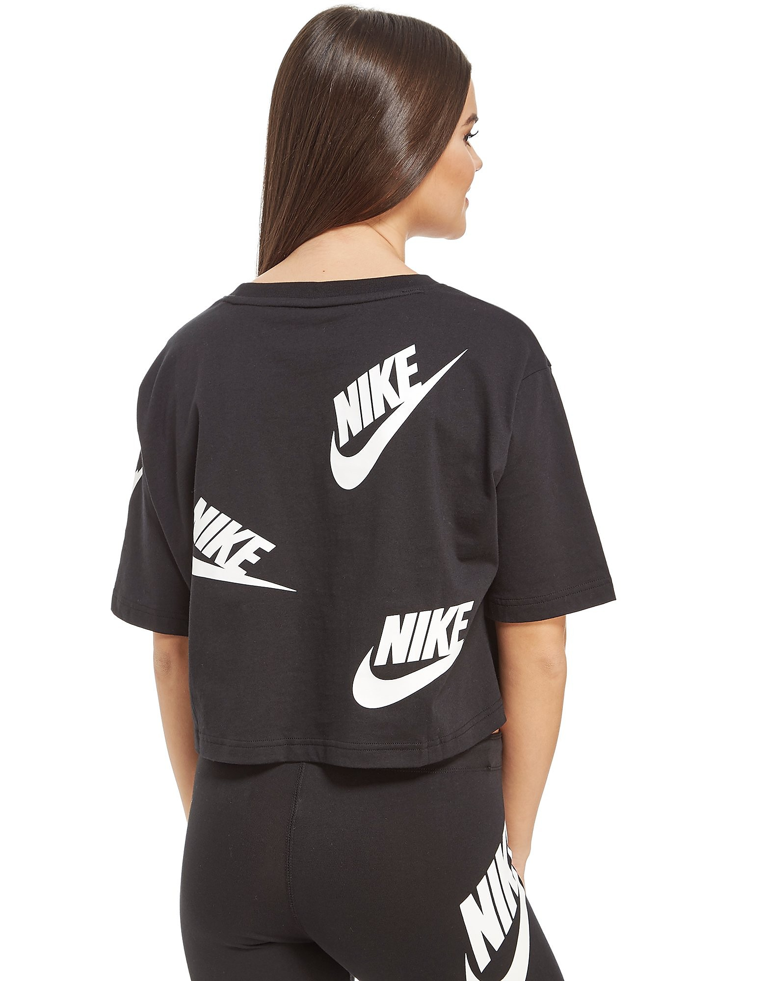 Nike All Over Print Futura Crop T-Shirt