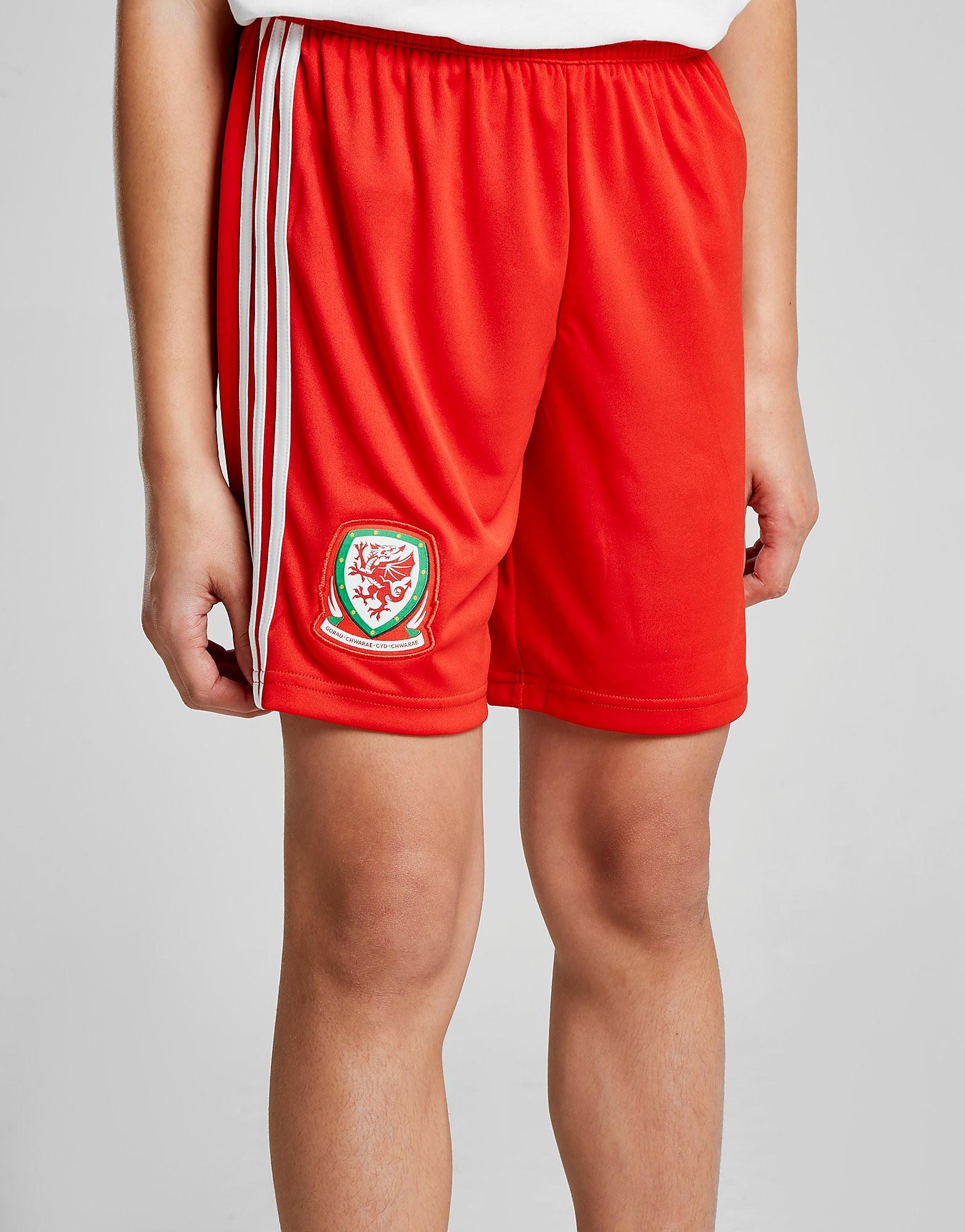 adidas Wales 2017/18 Home Shorts Junior