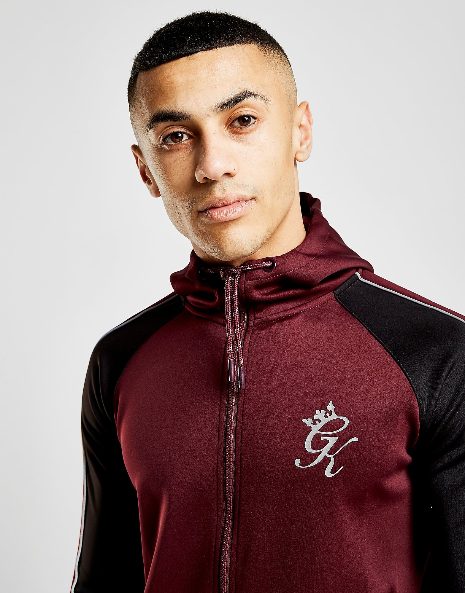 Gym King Zip Through Poly Hoodie