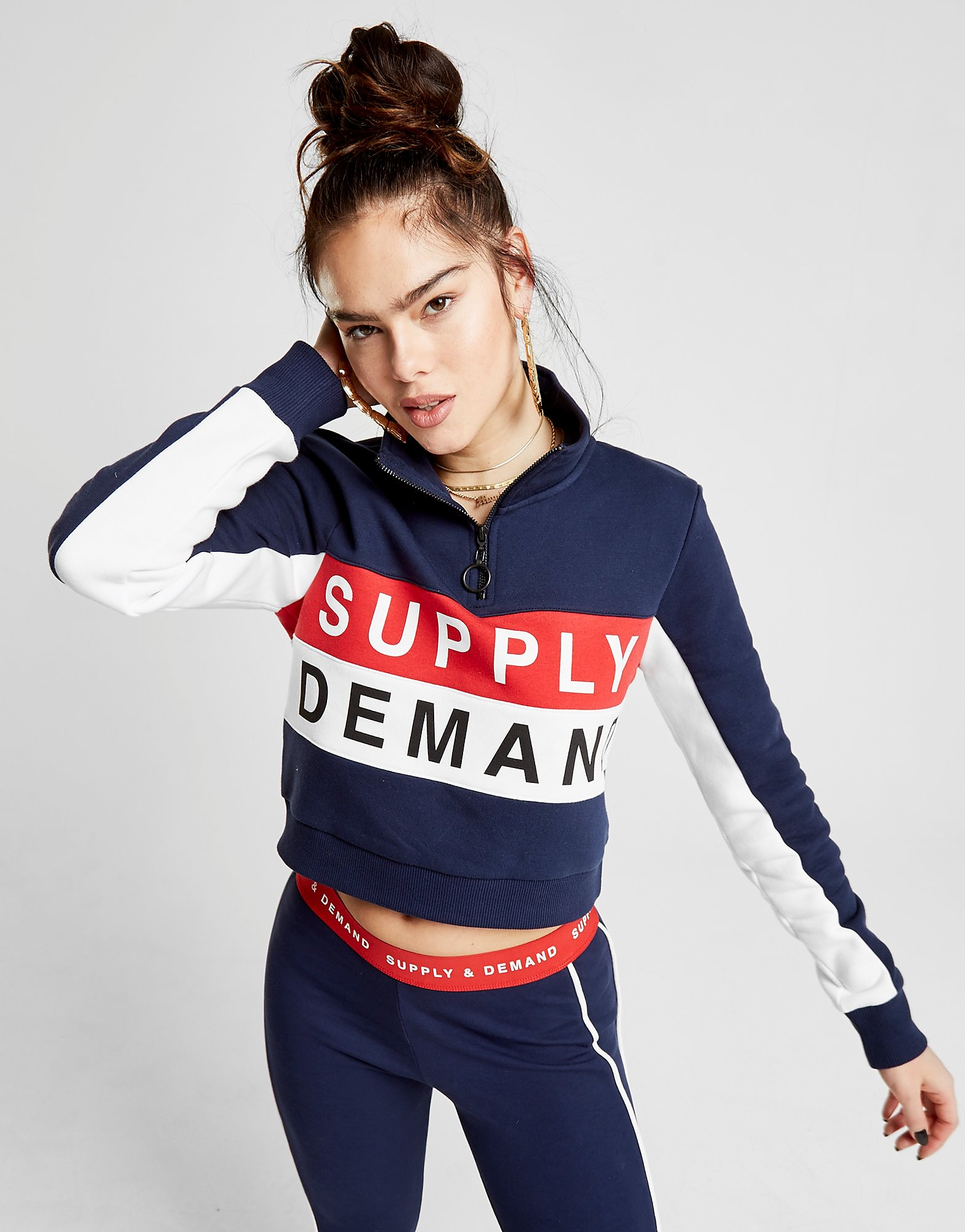 Supply & Demand Retro 1/2 Zip Crew Sweatshirt