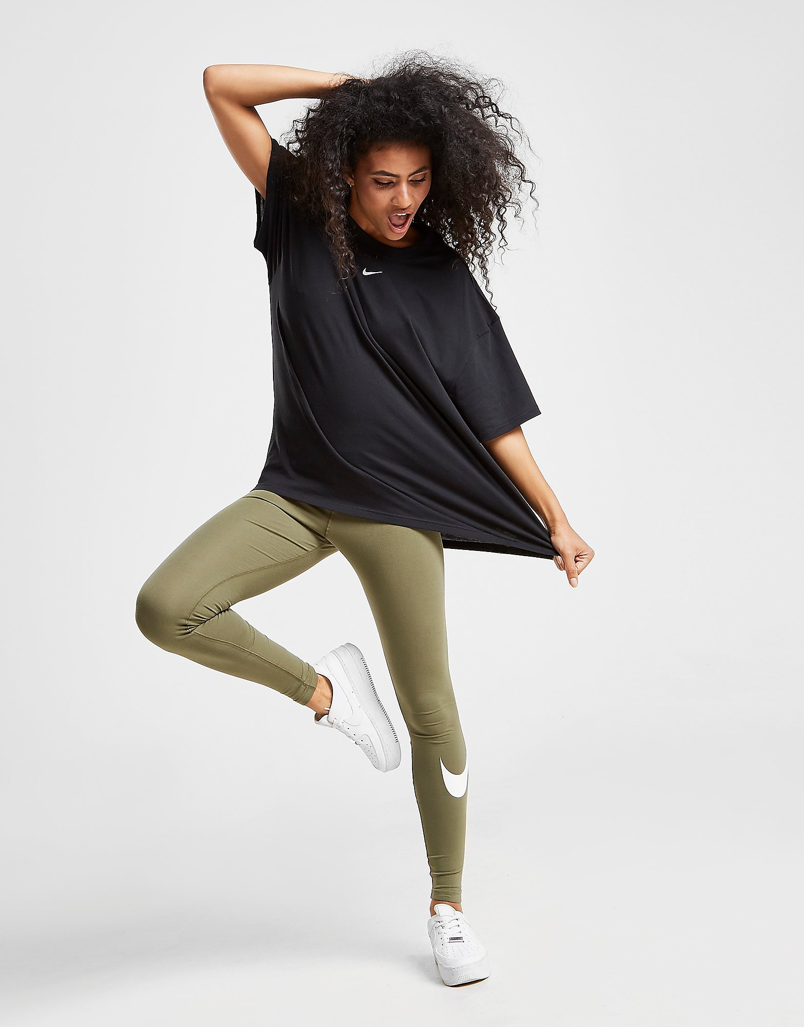 Nike Swoosh Leggings a vita alta Donna