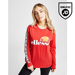 Ellesse Tape Long Sleeve Boyfriend T-Shirt ... b032d6f635