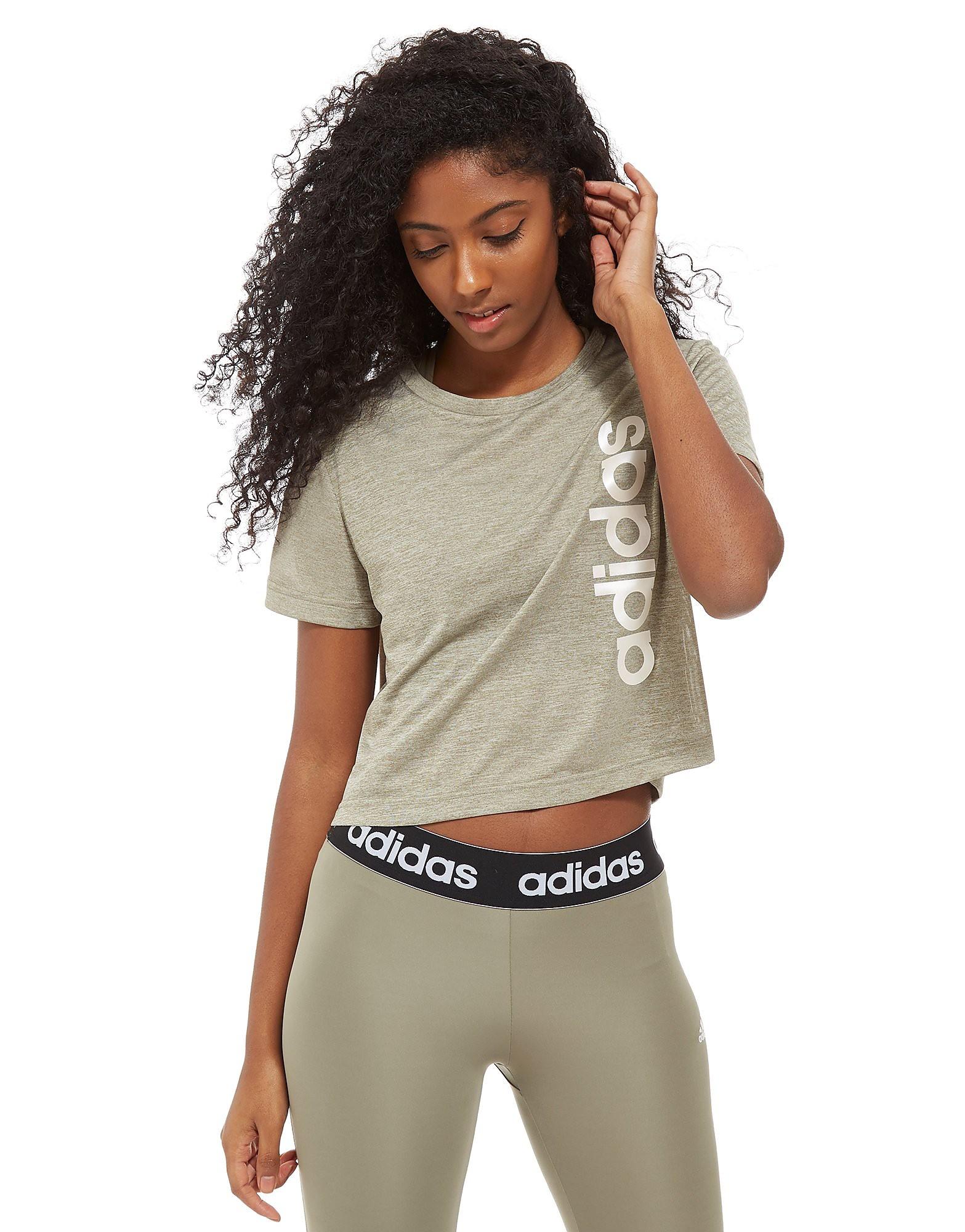 adidas Linear Crop T-Shirt Dames
