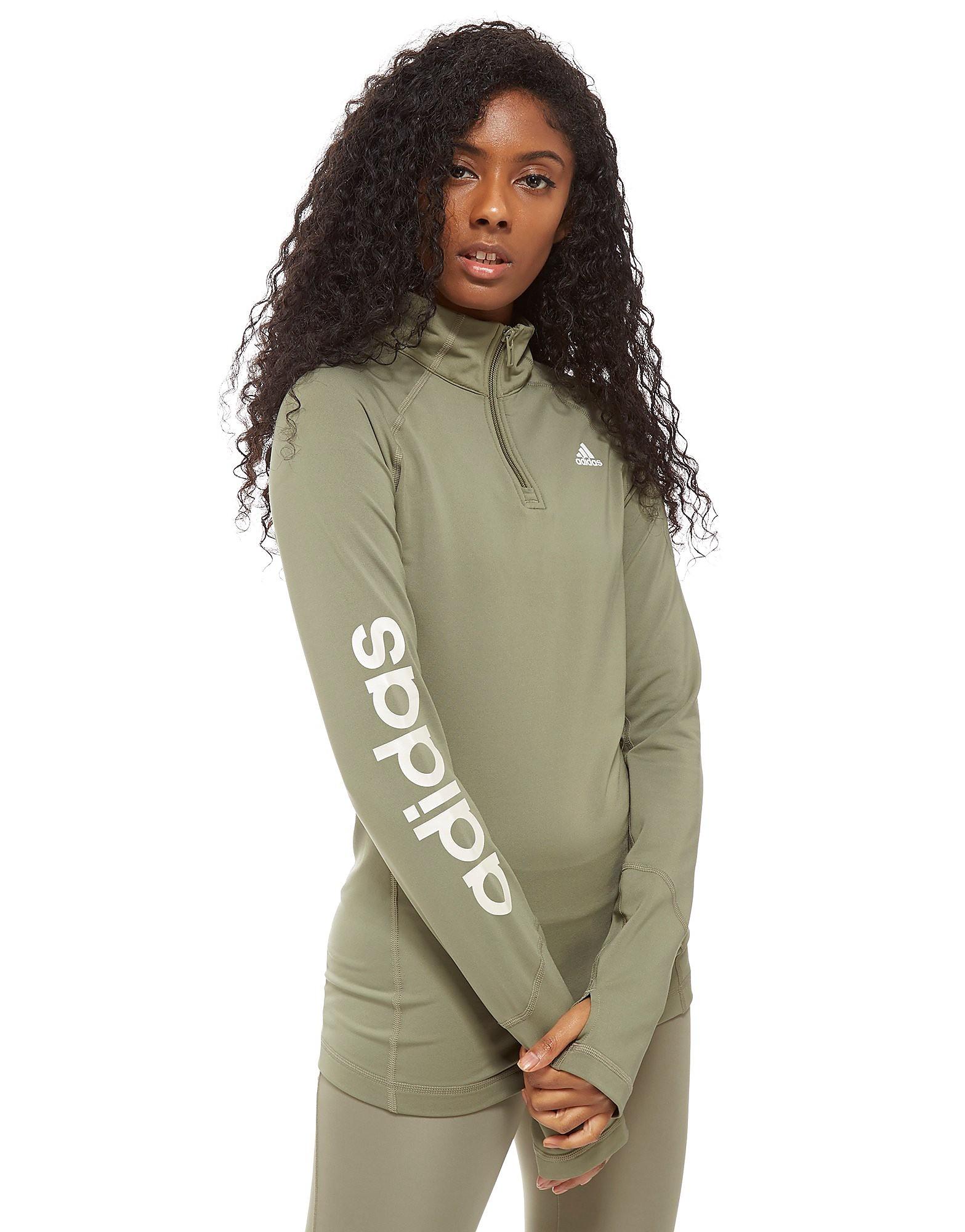 adidas Linear 1/4 Zip Top Dames