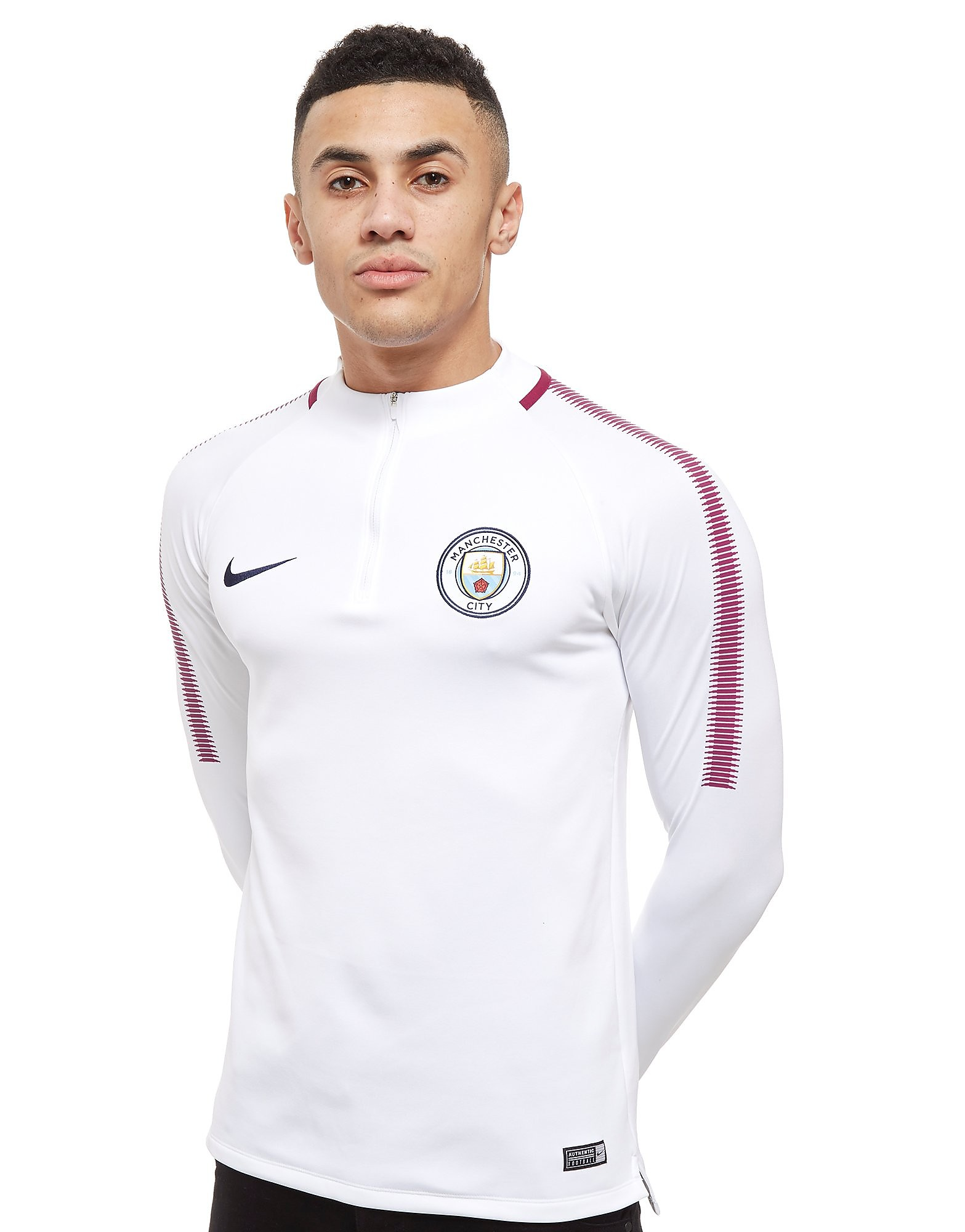 Nike Manchester City FC Squad Drill 1/4 Zip Top Heren