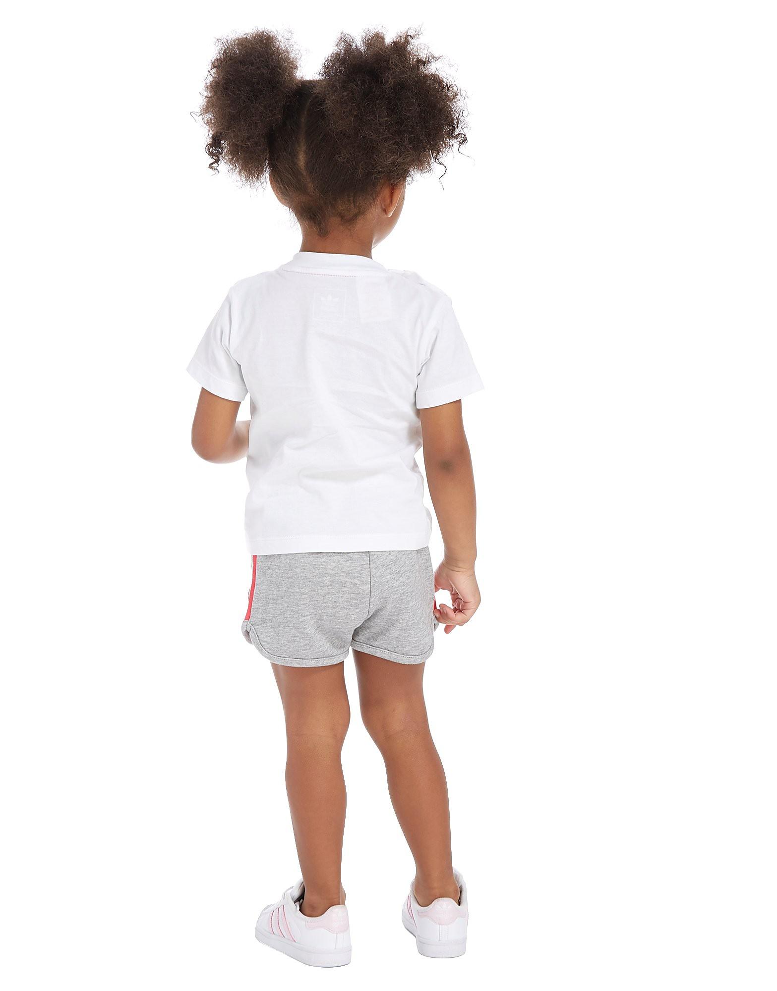 adidas Originals Girls' Infil T-Shirt & Shorts Set Baby's