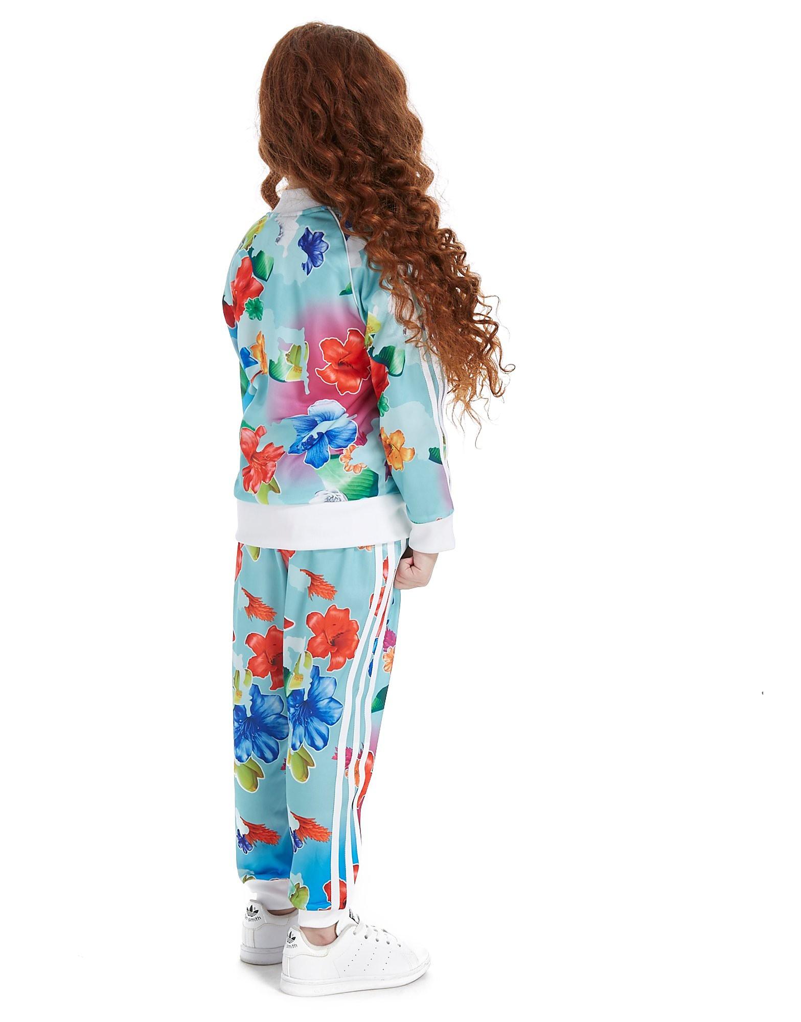adidas Originals Girls' All Over Print Floral Superstar Suit Kinderen