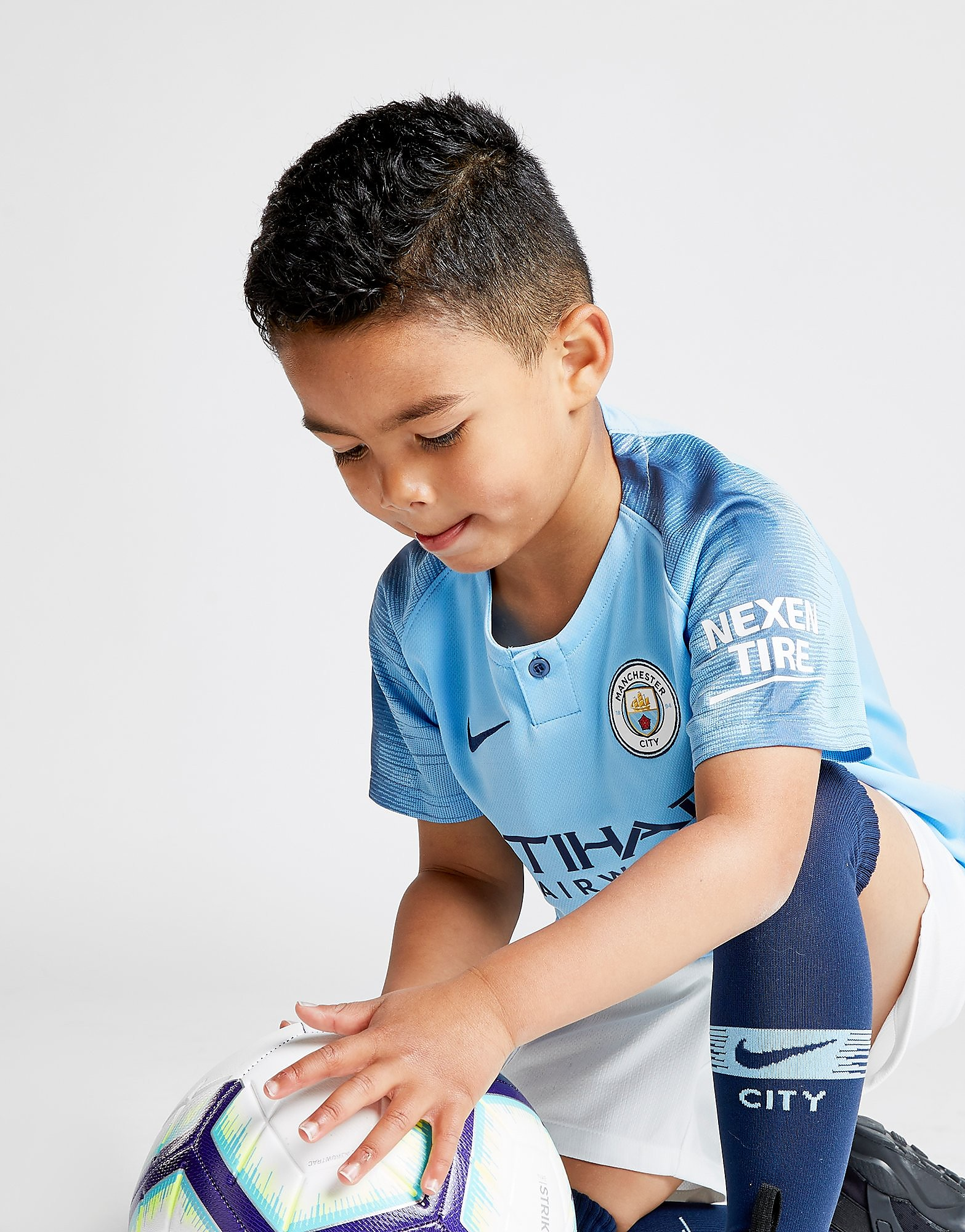 Nike Manchester City 18/19 Home Kit Kinderen