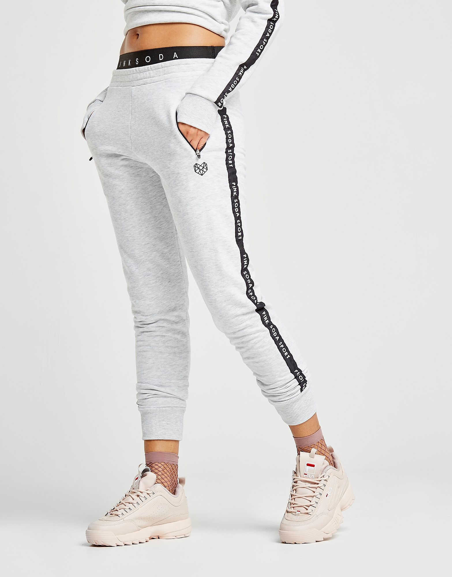 Pink Soda Sport Tape Graphic Joggers Dames