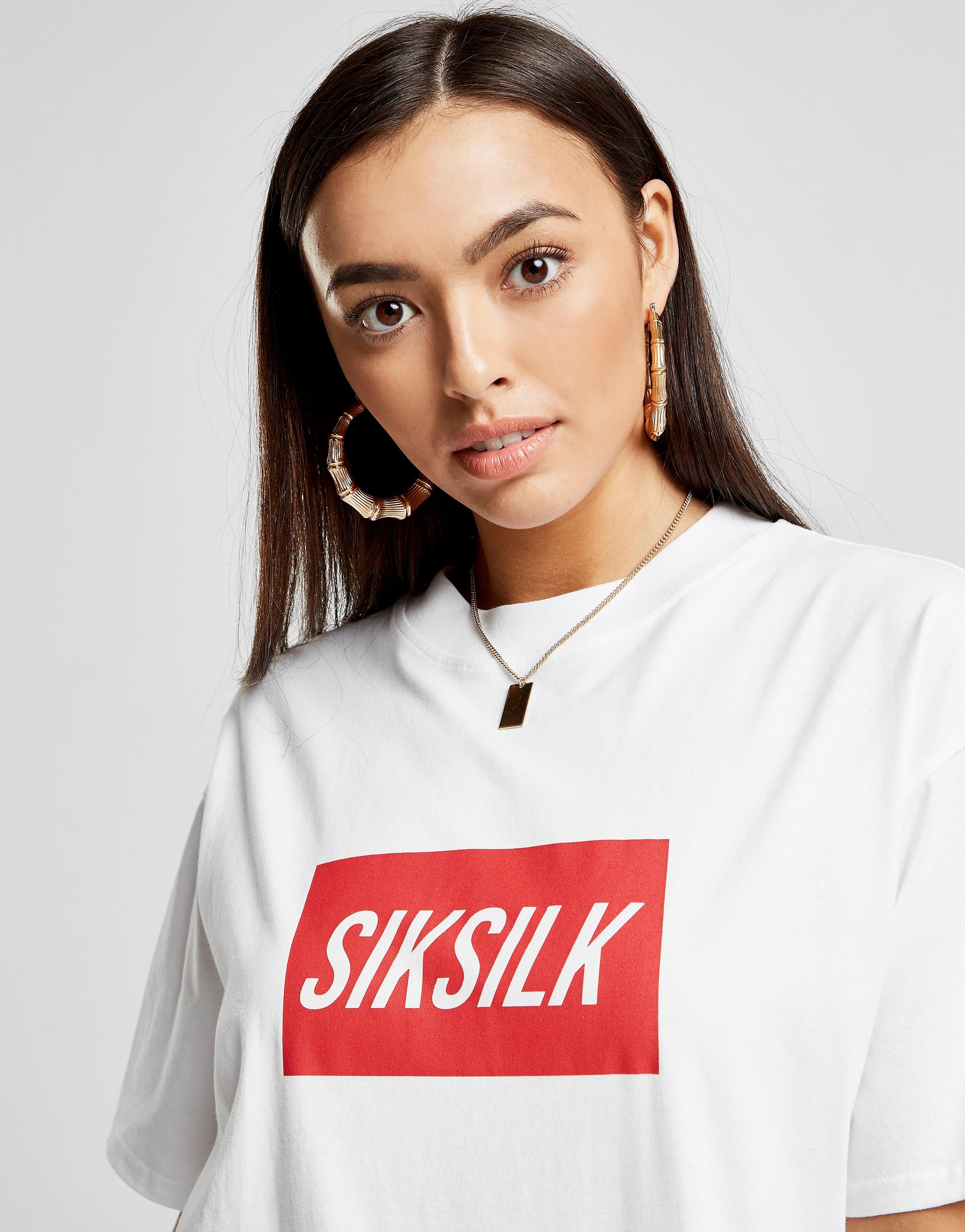 SikSilk Short Sleeve Box Logo T-Shirt