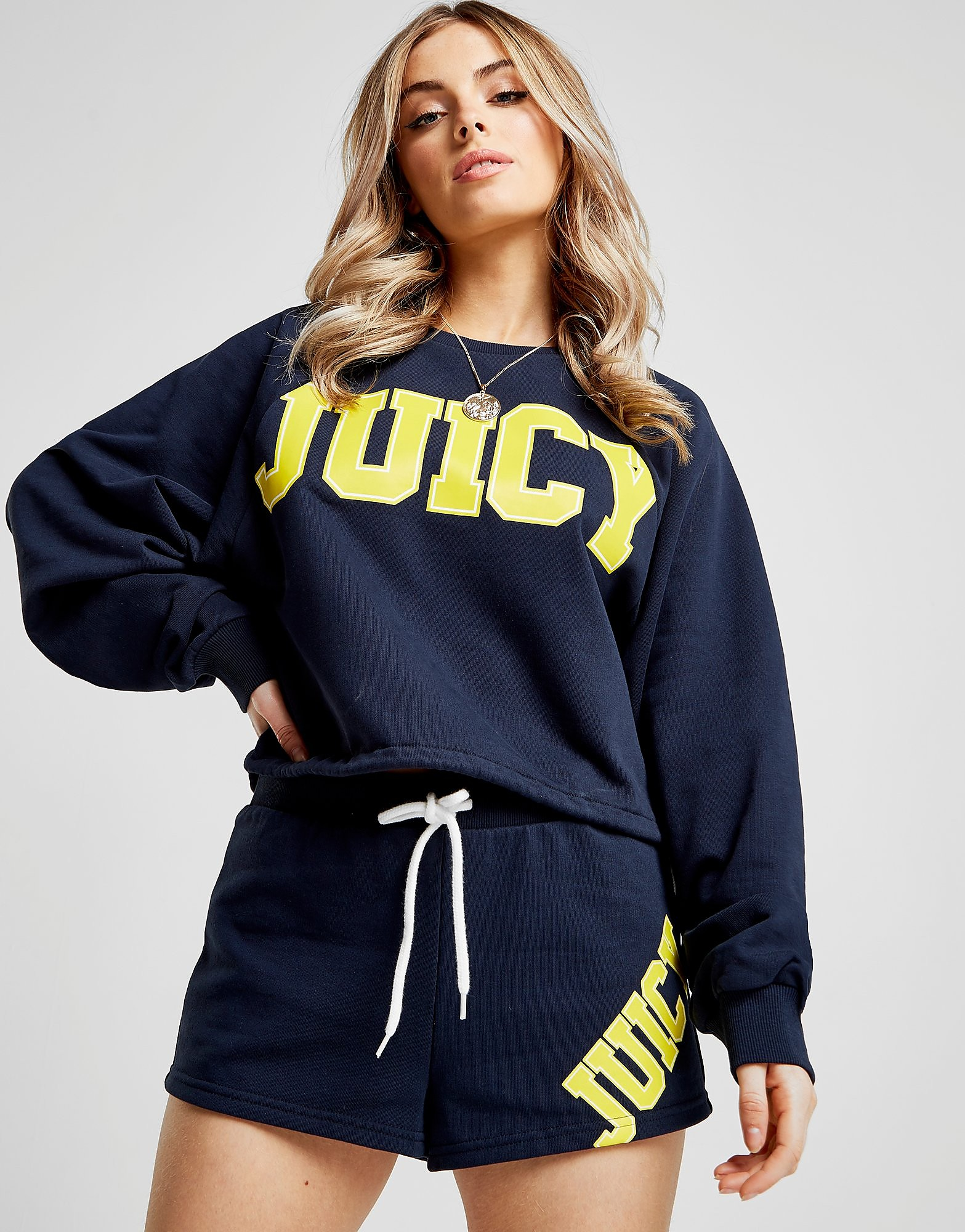 Juicy by Juicy Couture Logo Tie Crew Sweatshirt