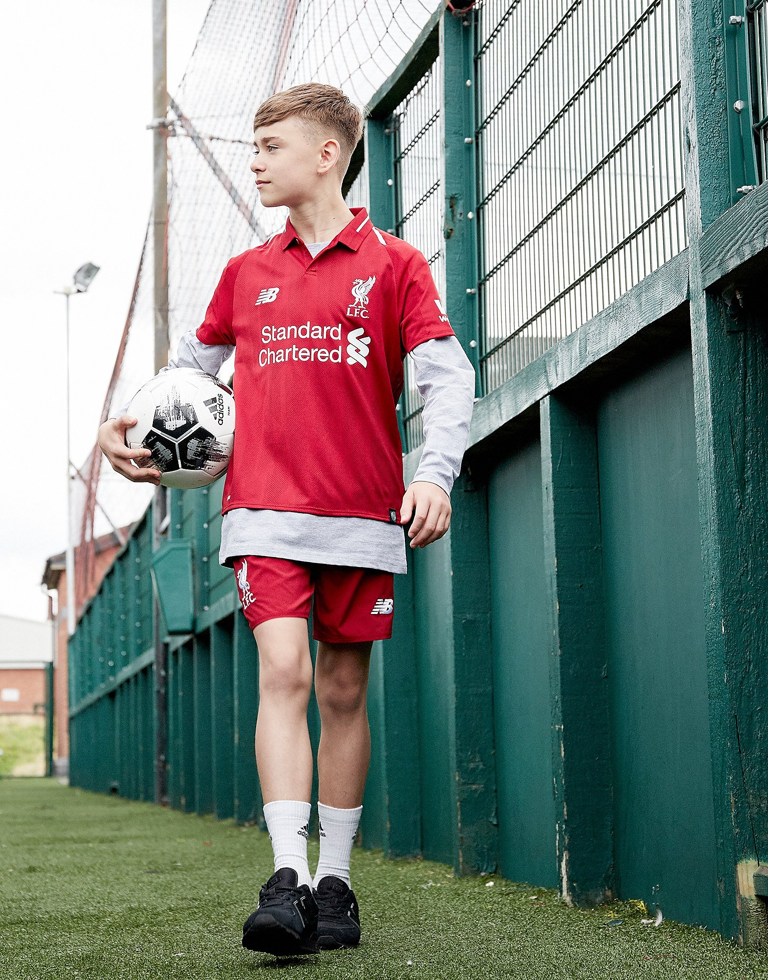 New Balance Liverpool FC 2018 Home Shorts Junior