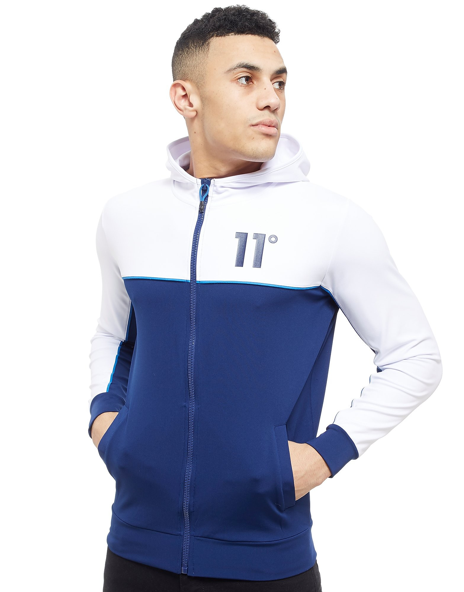 11 Degrees Full Zip Colourblock Hoodie Heren