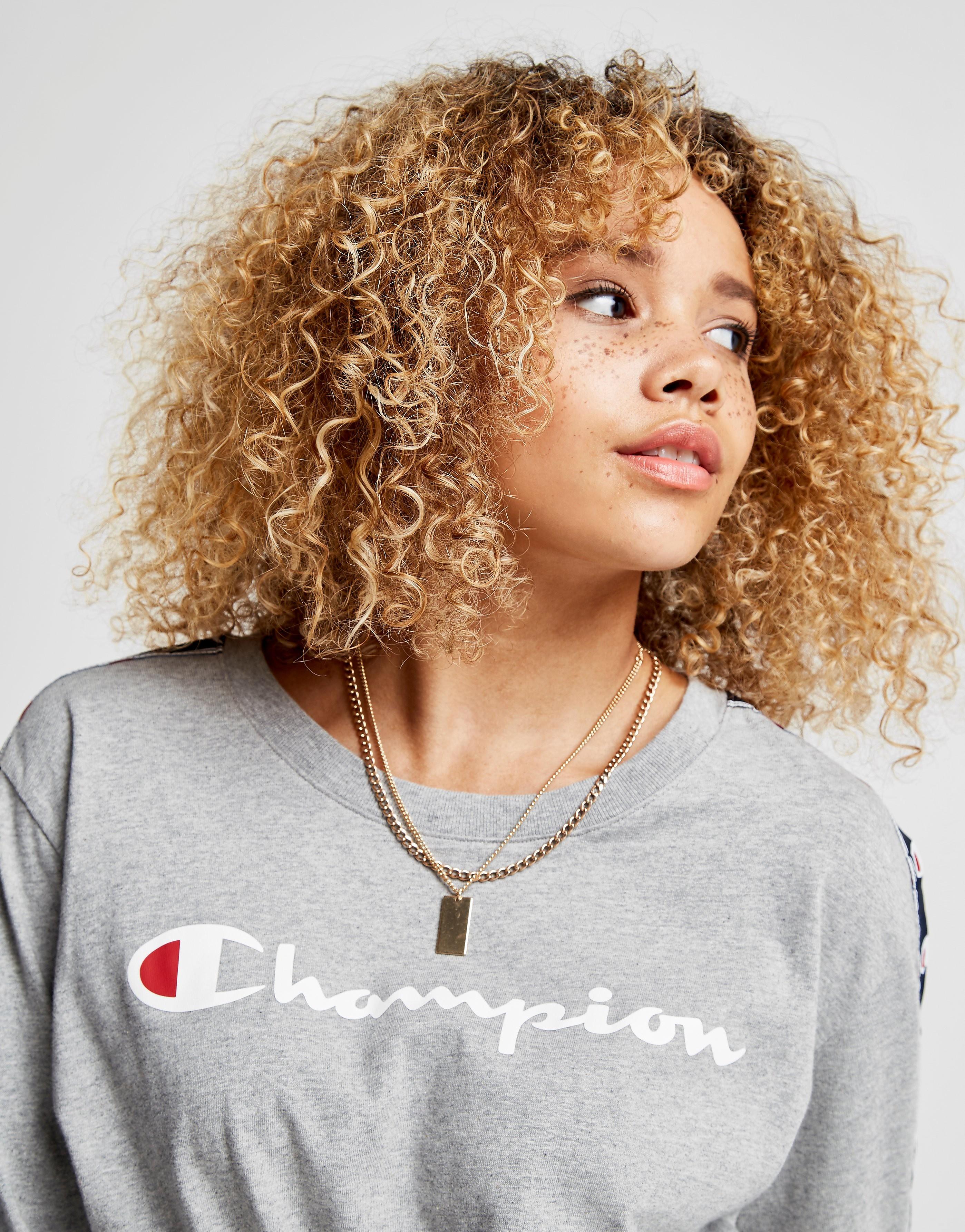 Champion Tape Long Sleeve Script T-Shirt