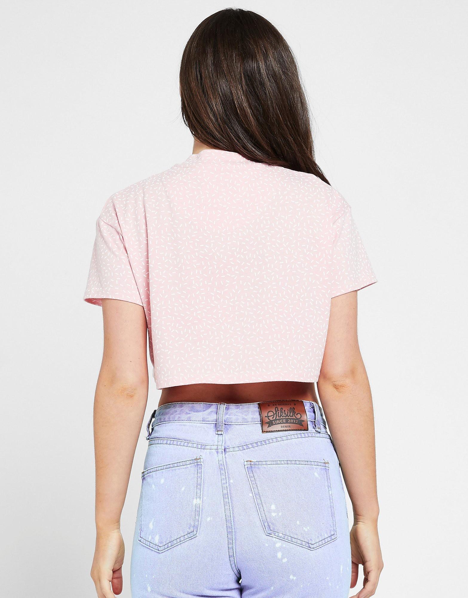 SikSilk Fleck Crop T-Shirt Dames
