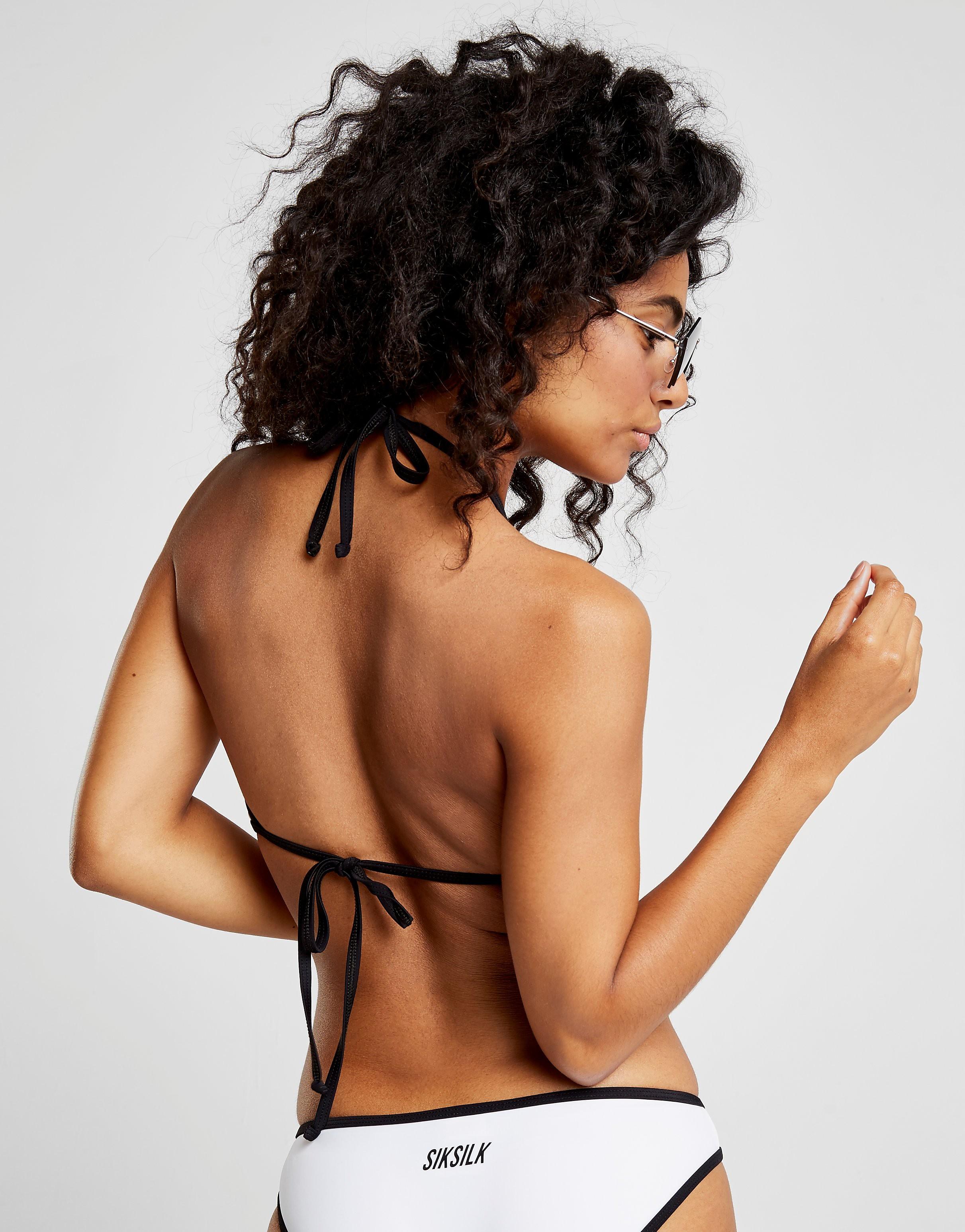 SikSilk Box Logo Bikini Top Dames