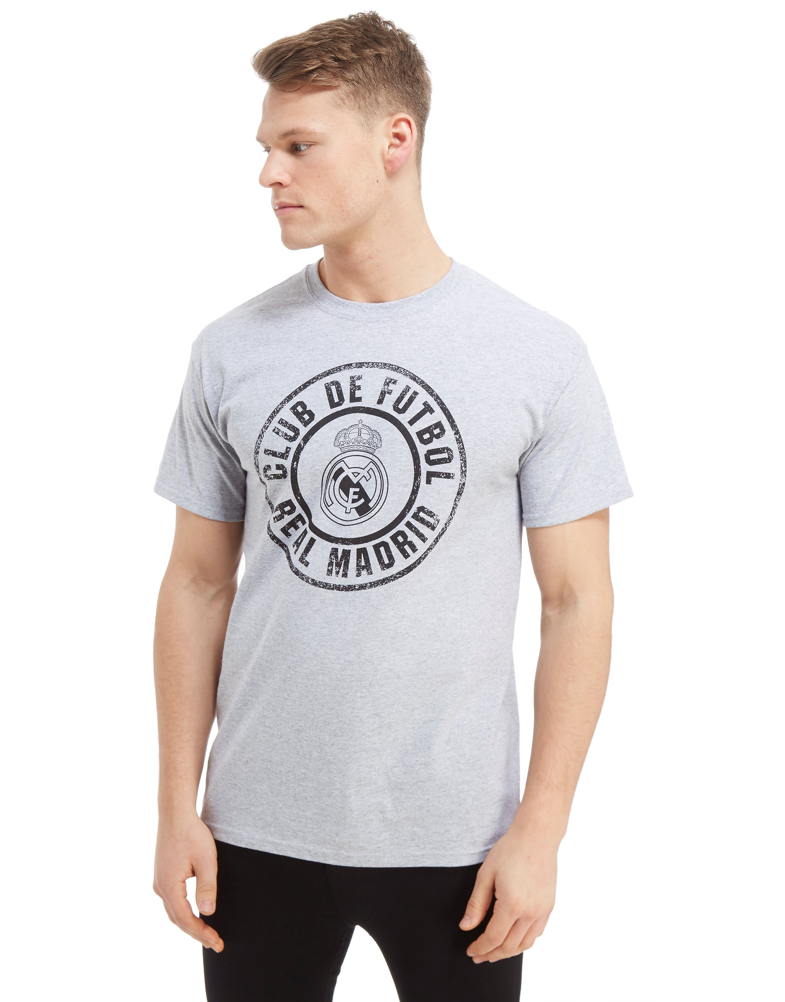 Official Team Real Madrid Seal Short Sleeve T-Shirt Heren