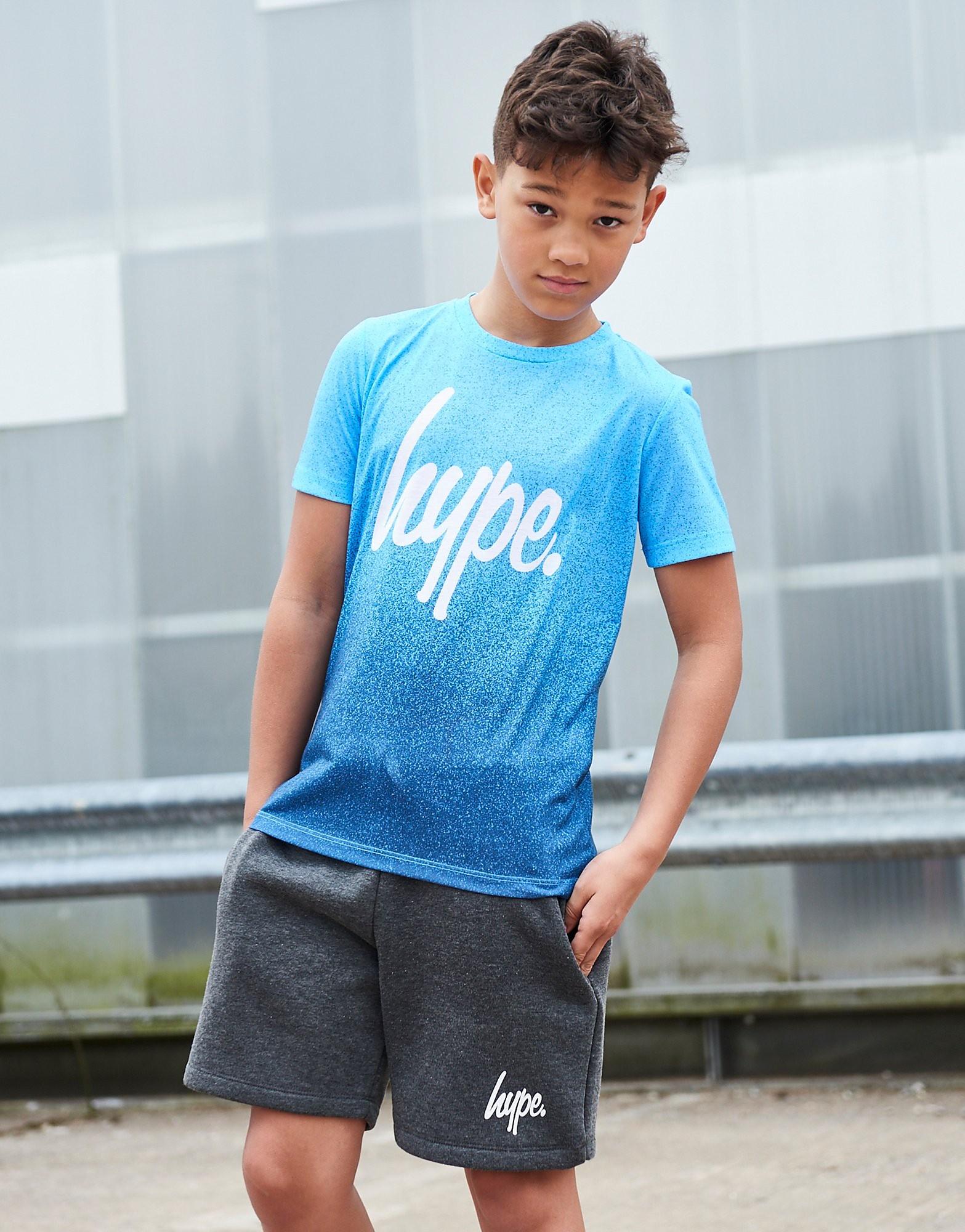 Hype Blue Fade Speckle T-Shirt Junior