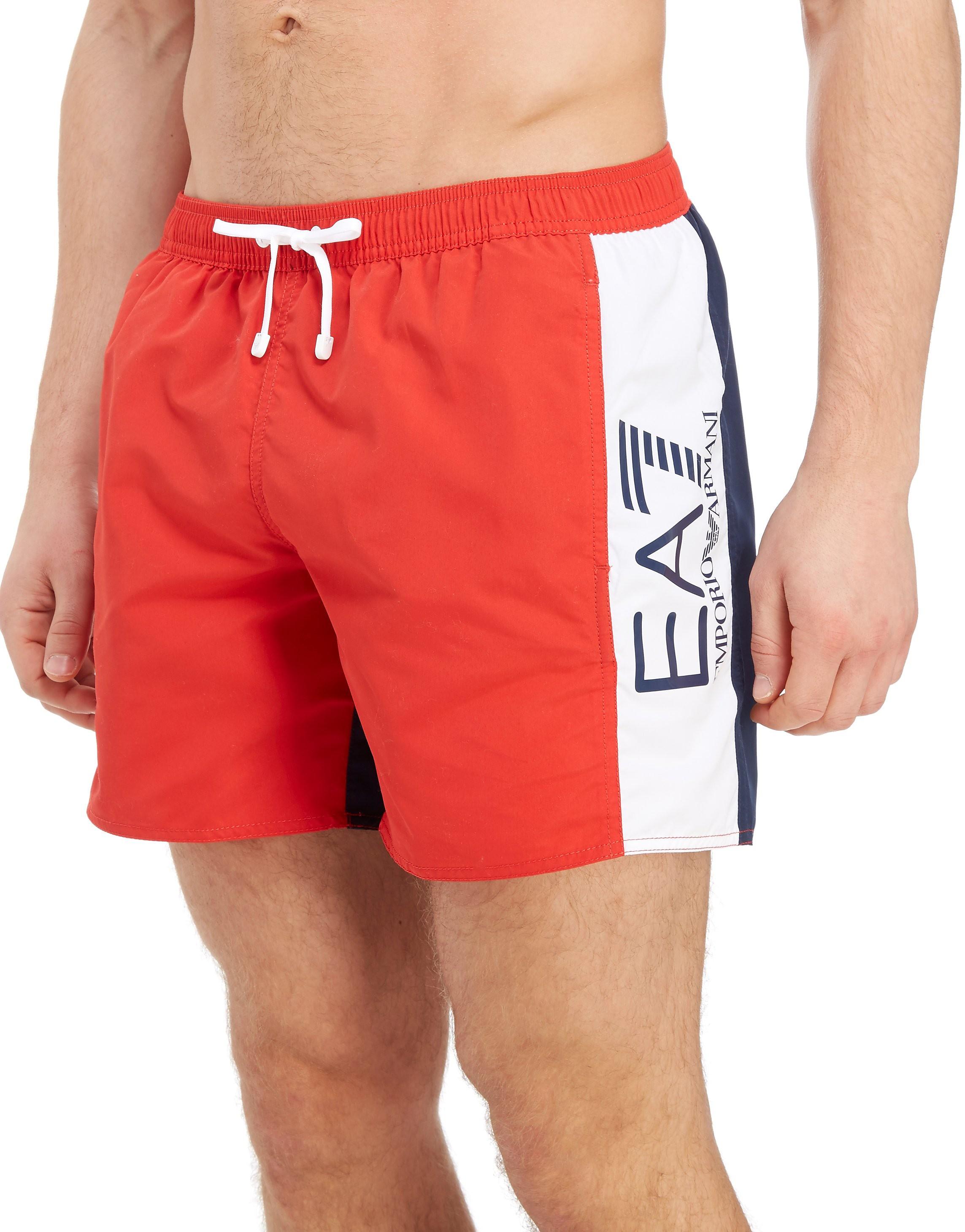 Emporio Armani EA7 Colourblock Swim Shorts