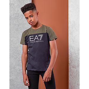 Emporio Armani EA7 Colour Block T-Shirt Junior ... ba8e43857f4df