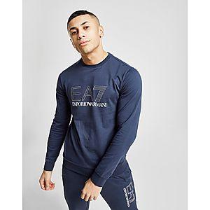 size 40 15407 963d8 Emporio Armani EA7 Carbon Logo Crew Sweatshirt ...