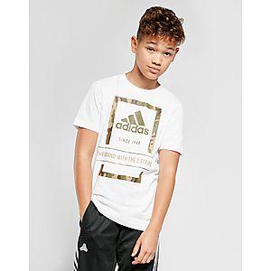 big sale 6d77e 5bfc2 adidas Badge Of Sport Camo Outline T-Shirt Junior ...