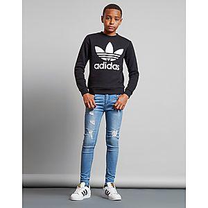 5fc47fcd07133 adidas Originals Trefoil Crew Sweatshirt Junior adidas Originals Trefoil  Crew Sweatshirt Junior