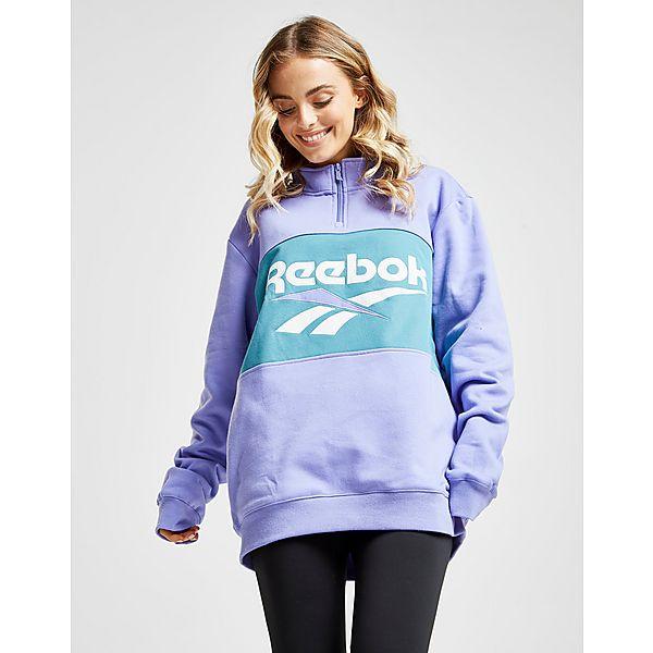 db154d57e3c Reebok Vector 1 4 Zip Sweatshirt
