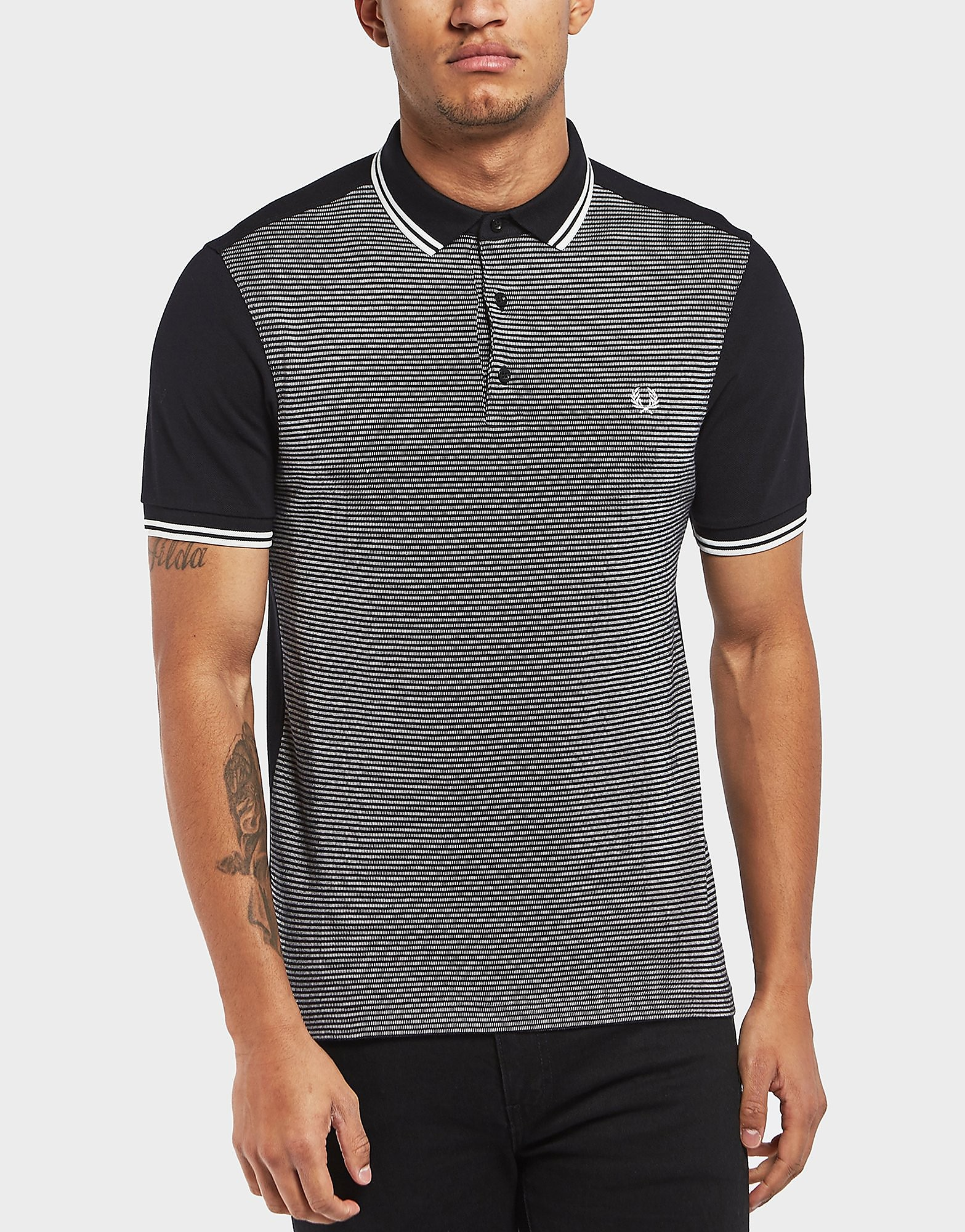 Fred Perry Jacquard Tipped Short Sleeve Polo Shirt