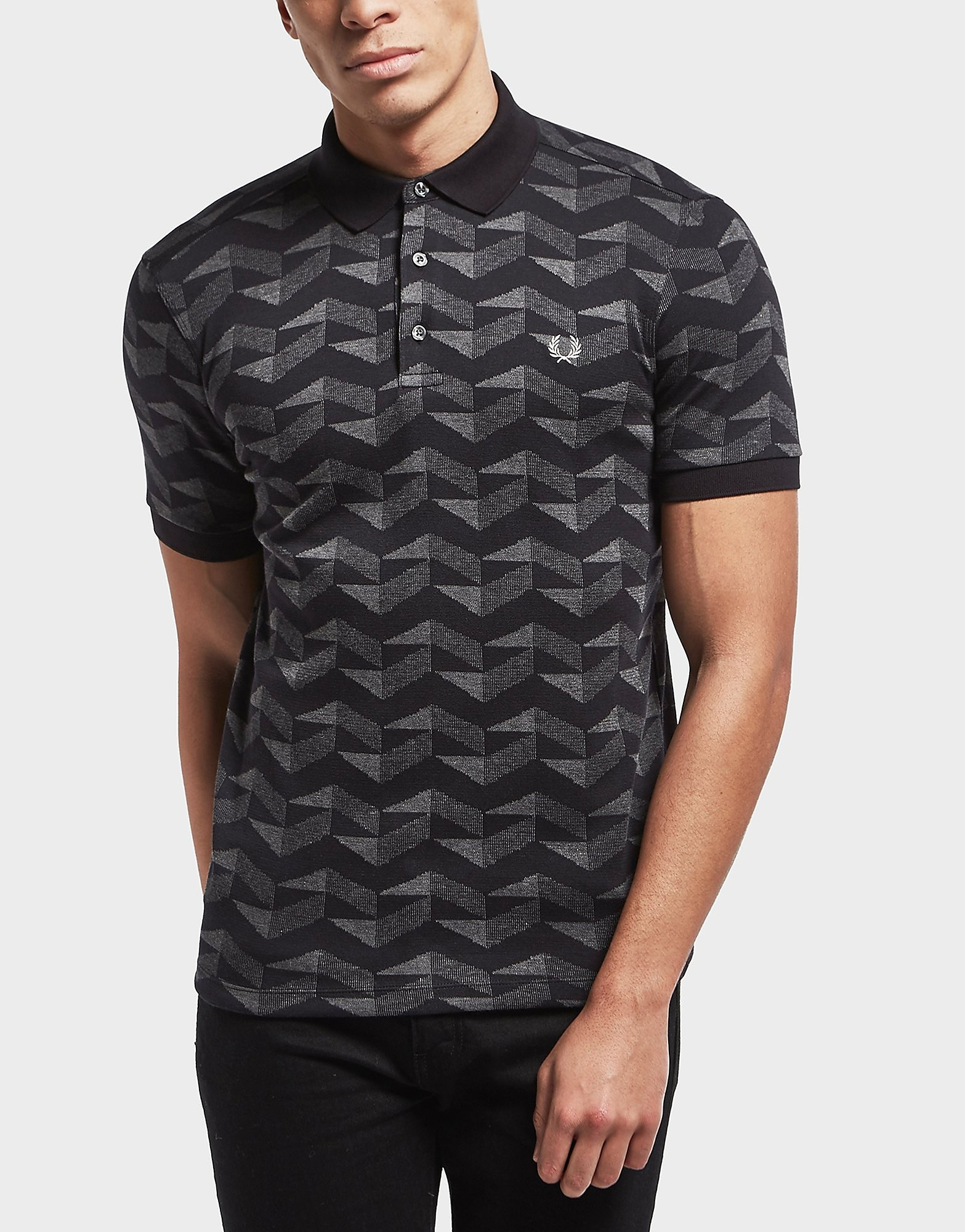 Fred Perry Jacquard Pique Short Sleeve Polo Shirt