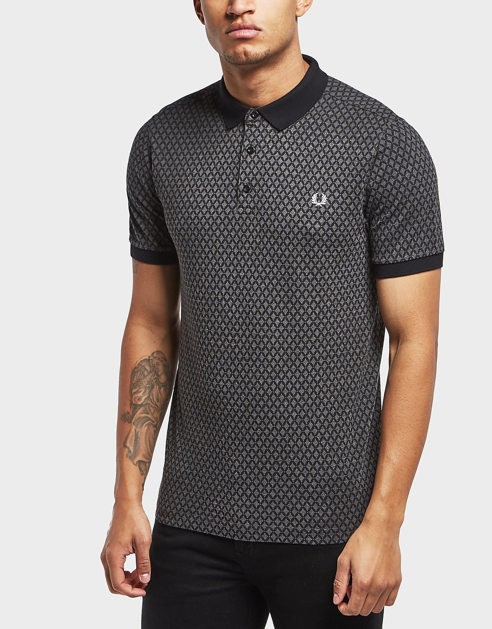 Fred Perry Graphic Print Short Sleeve Polo Shirt