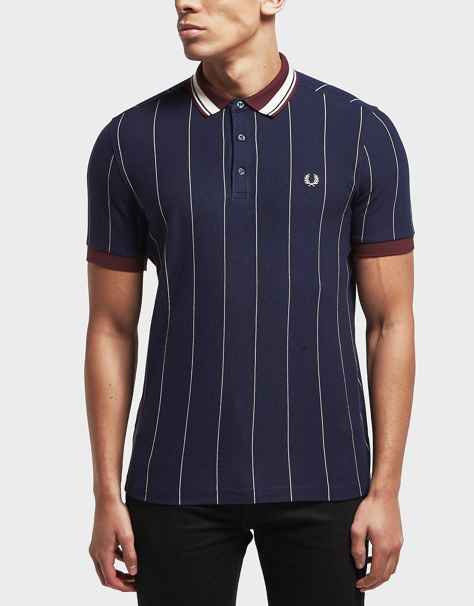 Fred Perry Striped Pique Short Sleeve Polo Shirt
