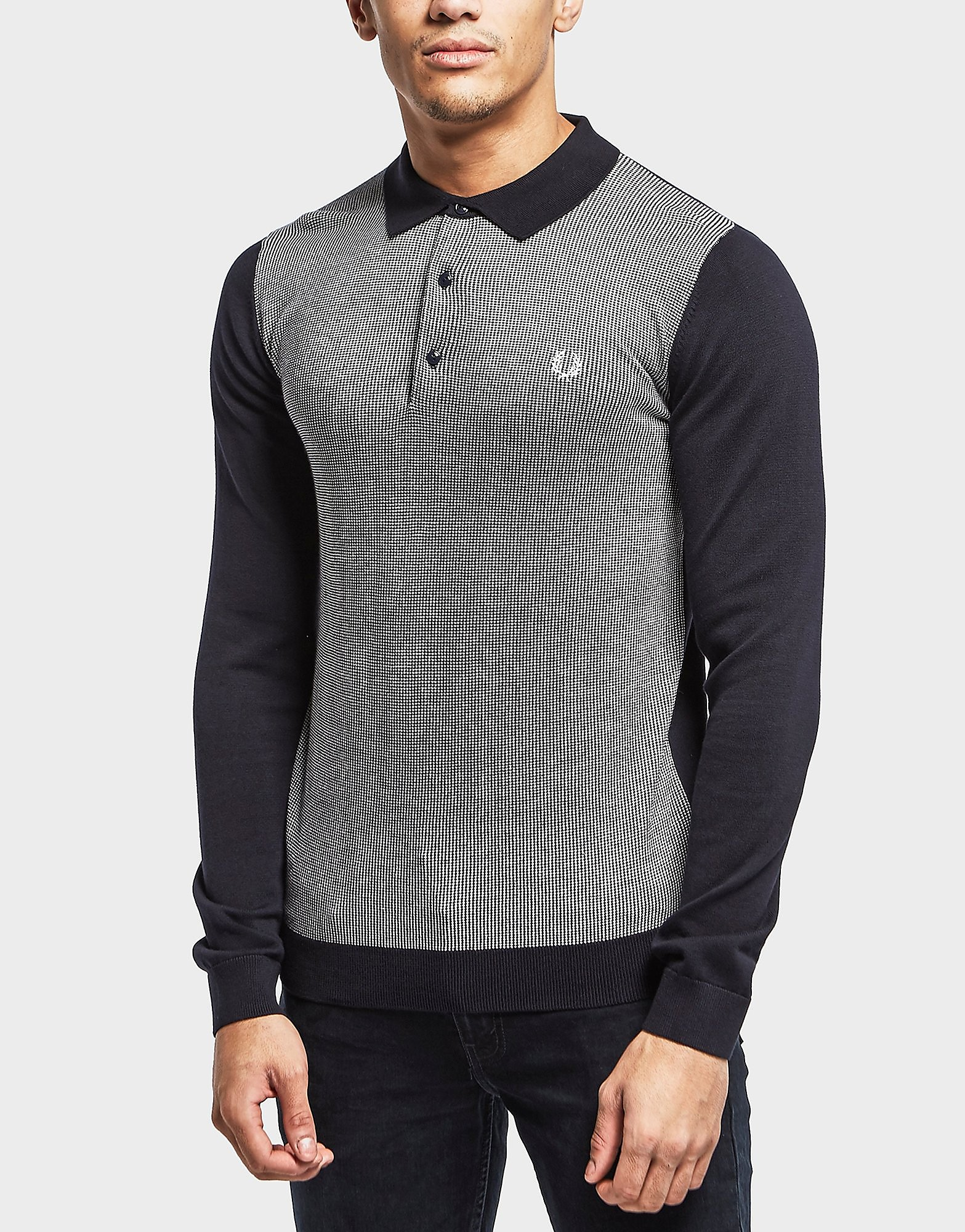Fred Perry Long Sleeve Jacquard Polo Shirt