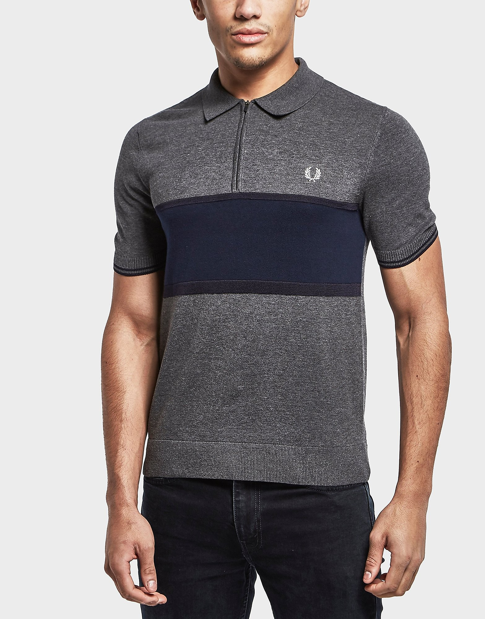 Fred Perry Short Sleeve Zip Polo Shirt