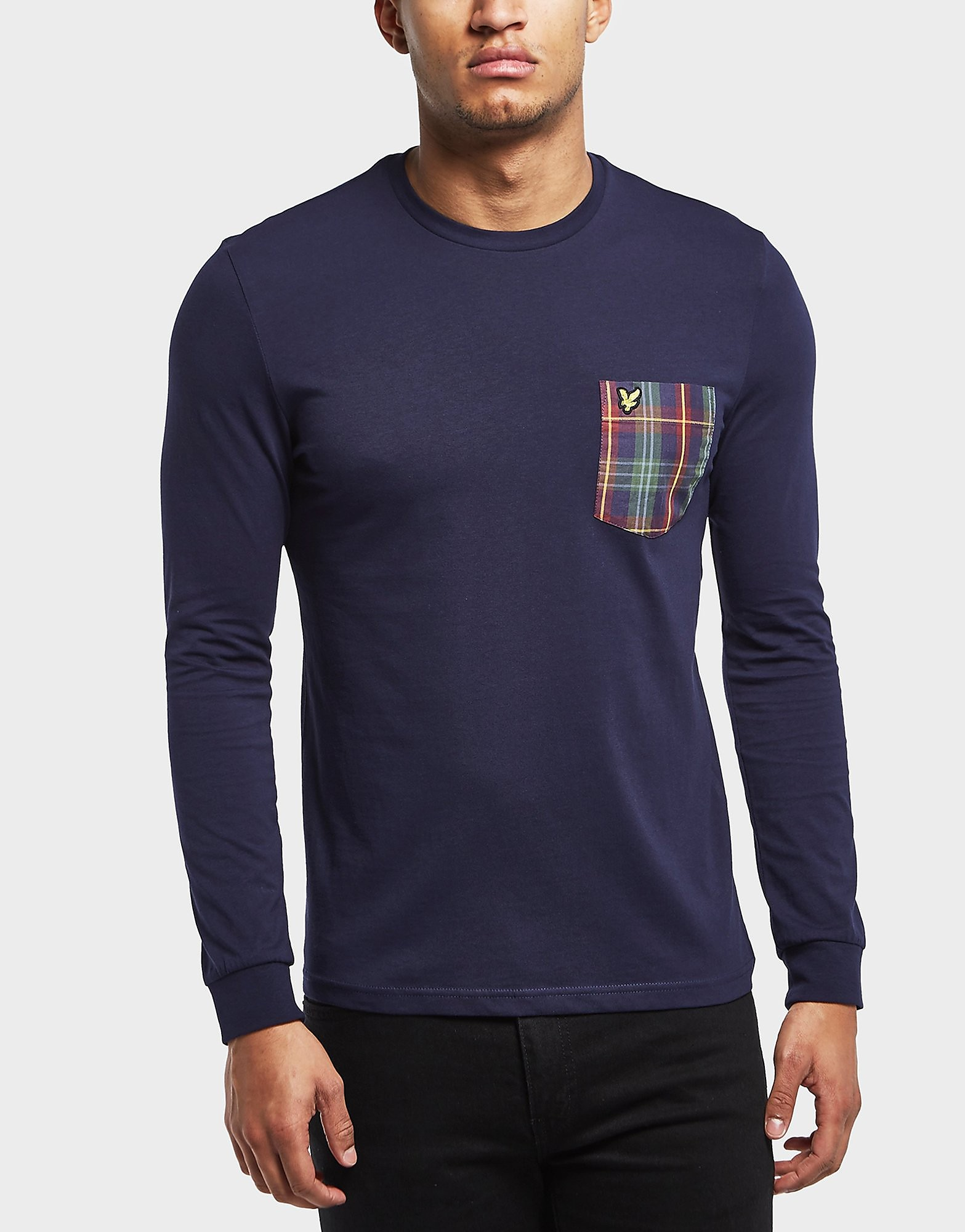 Lyle & Scott Long Sleeve Check Pocket T-Shirt - Exclusive