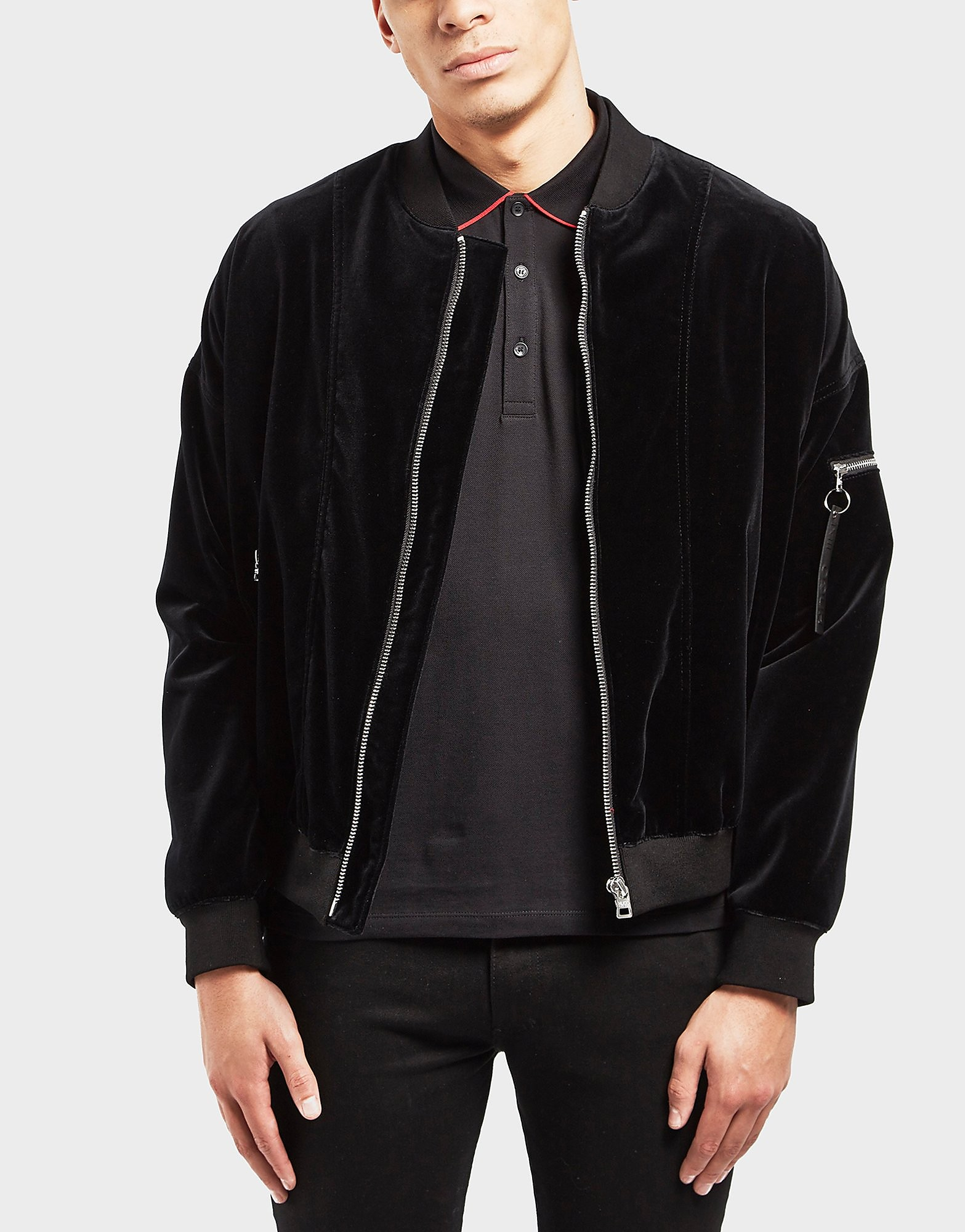HUGO Velvet Padded Bomber Jacket