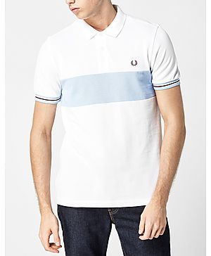 Fred Perry Oxford Panel Pique Polo Shirt