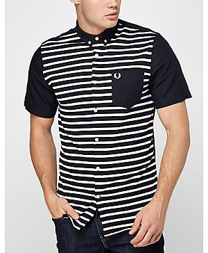Fred Perry Pique Stripe Oxford Shirt