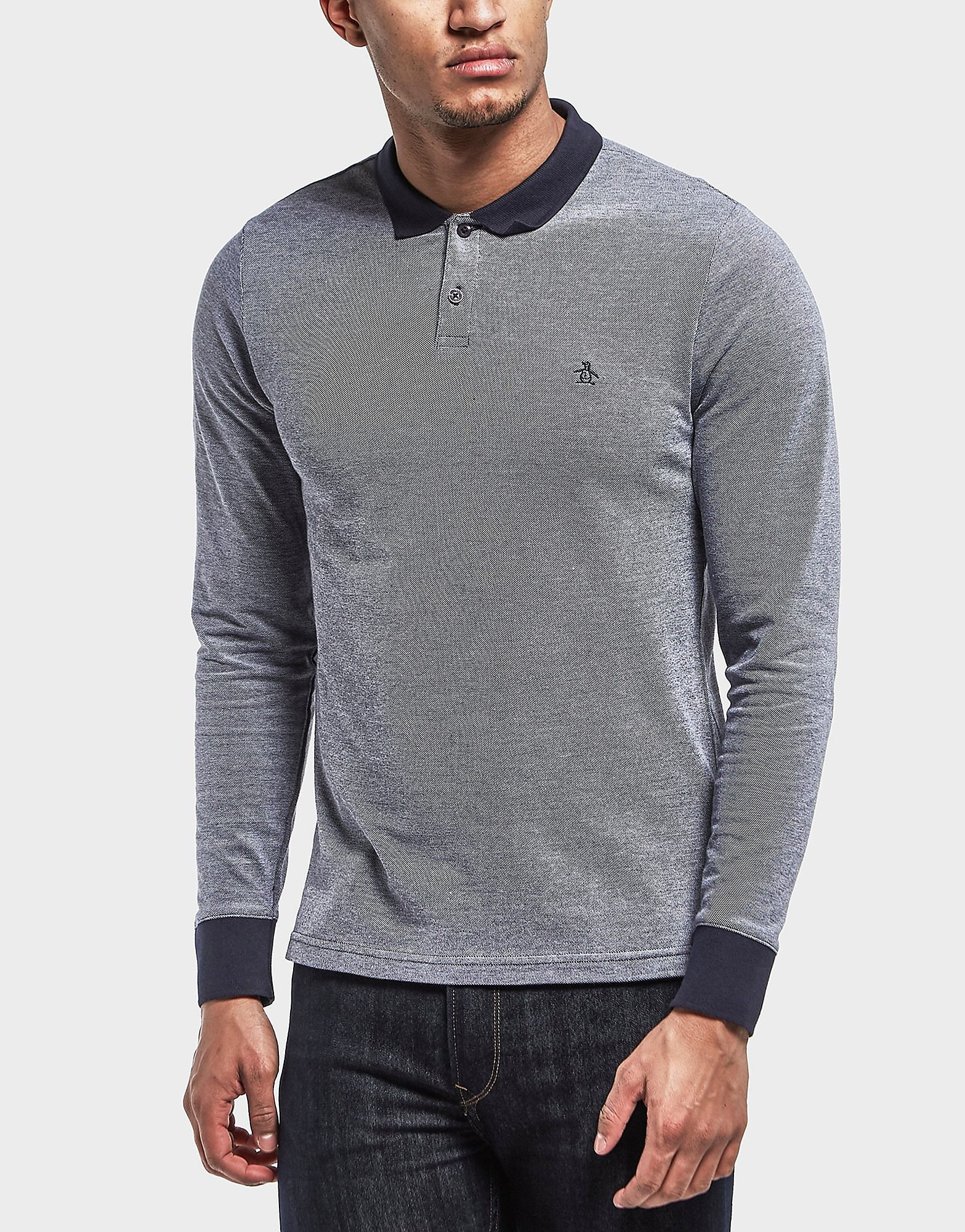 Original Penguin Birdseye Long Sleeve Polo Shirt - Exclusive