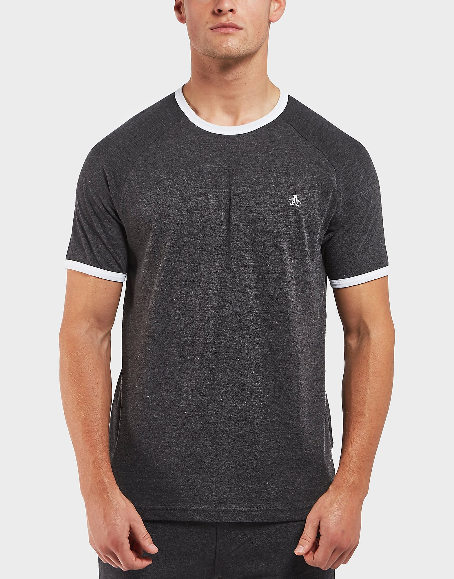 Original Penguin Logo Short Sleeve Ringer T-Shirt - Exclusive